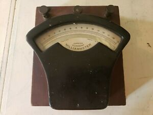 Antique Dc Milliammeter Test Equipment Guage
