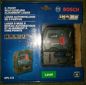 Bosch Gpl 5 S Self Leveling 5 point Plumb And Square Point Laser New Sealed