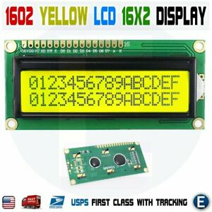 Lcd 1602 Yellow green 16x2 Hd44780 Character Display Module For Arduino Lcd1602