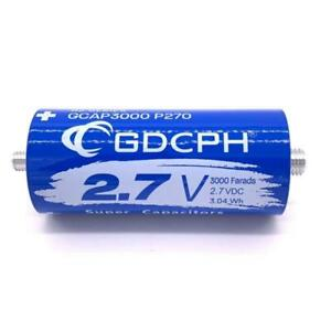 2 7v 3000f Super Farad Capacitor Long Foot Low Esr High Frequency Ultracapacitor