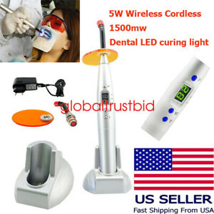 Dentist Dental Led Curing Blue Light Lamp Wireless Cordless Battery Operated Fda
