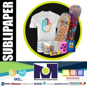 100 Sh Dye Sublimation Heat Transfer Paper Sublipaper 8 5 x11 Free Delivery