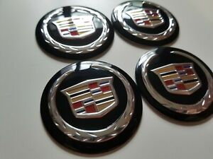 Cadillac 56mm Wheel Center Hub Cap Stickers Emblem Black