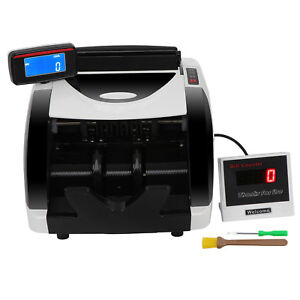 Money Cash Counting Bill Counter Bank Detector Uv Mg Machine Counterfeit