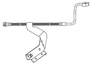 Brake Hydraulic Hose Front Right Centric 150 65209