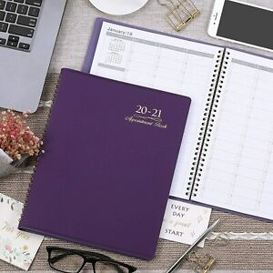 2020 21 Weekly Appt Book Planner Daily Hourly Planner 8 1 X 10 3 Purple