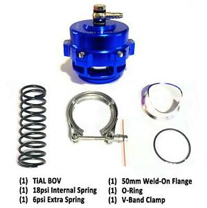 Tial Q Bv50 Blue 50mm Blow Off Valve bov Up To 35psi 6psi 18psi Springs