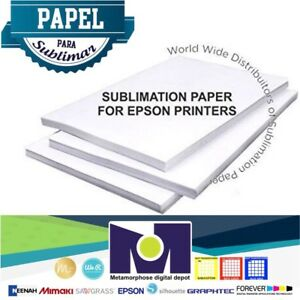 50 Sheets A 8 5 X 11 Sublimation Transfer Paper Paper De Sublimaci n
