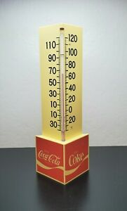 Vintage Advertising  Enjoy Coca Cola Thermometer Made In USA Triangle