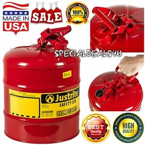 Jerry Can 5 Gallon 20l Gas Fuel Army Nato Military Metal Steel Tank Holder Typei