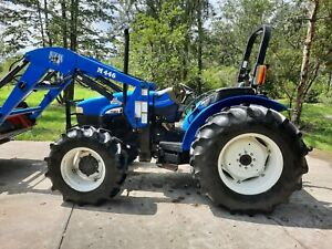 New Holland Tractor Tn65 4x4 65hp Hd Loader W Universal Quick Tack Reduced