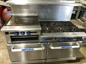 Imperial Ir 2 g48 60 Gas 6 Burner W Griddle Conventional Ovens Shipping 350