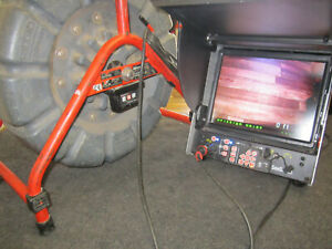 Ridgid Seesnake 71r 125ft Color Sewer Camera With Cs 10 Color Monitor Recorder
