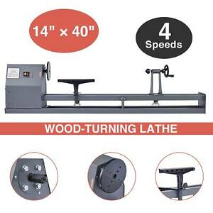 14 In X 40 In 1 2hp 120v 60 Hz 4 Speed Benchtop Woodturning Wood Lathe Tool