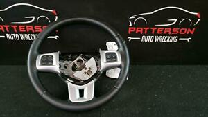 2013 Dodge Charger Leather Wrapped Steering Wheel Black