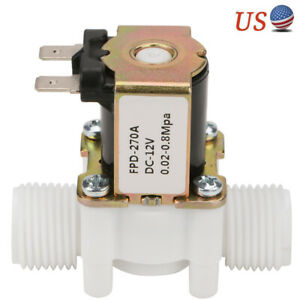 12v G1 2 Nc Plastic Electric Solenoid Valve Magnetic Water Air Normally Closed