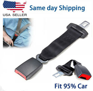 14 Universal Car Seat Seatbelt Safety Belt Extender Extension 7 8 Buckle Gray