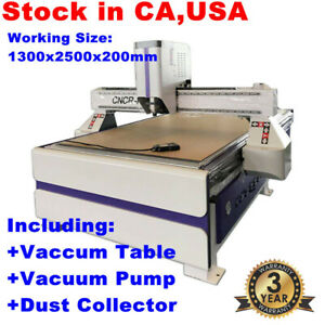 3axis 51 X 98 Ad And Woodworking Cnc Router Machine 3kw Spindle vacuum Syatem