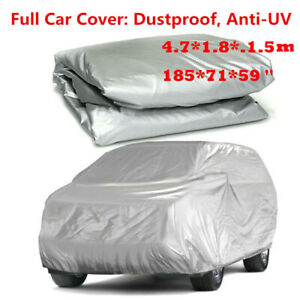 Waterproof Full Car Cover For Outdoor Dust Uv Ray Rain Resistant Fits Small Car