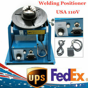 2 5 Rotary Welding Positioner Turntable Table 3 Jaw Lathe Chuck 2 10 R min