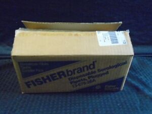 Fisherbrand 1ml In 1 100 Glass Disposable Serological Pipet Plug Sterile 500 cs