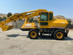 Badger case 1085d Wheeled Hydraulic Excavator Very Low Hours Ac Ex Ca City
