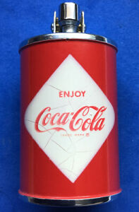 1960s ENJOY COCA COLA DIAMOND LABLE CAN LIGHTER HAVE A COKE UNUSED