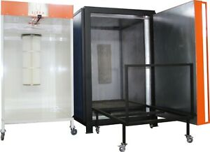 Powder Paint Shop Powder Coating Electric Oven enclosed Spray Booth applicator