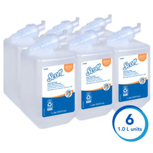 New 6 Pack Scott Soap Foam Antimicrobial 91554 Unscented Kills 99 Germs