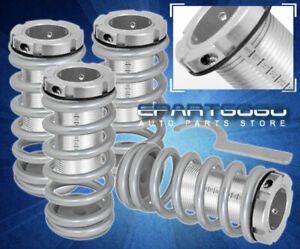 94 97 98 01 Integra Dc2 Ls Rs Gs Scale Adjustable Coilover Sleeves Kit Silver