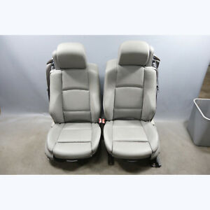2007 2010 Bmw E93 3 series Convertible Front Factory Sports Seats Pair Grey Oem