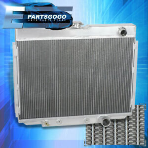 For 67 70 Ford Mustang Falcon Fairlane V8 Tri core row Aluminum Cooling Radiator