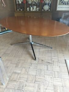 Mcm Knoll Teak Conference Dining Table 42 X 78 Excellent Label