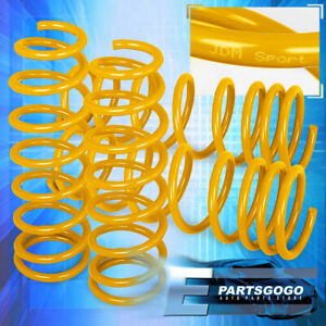 For 92 00 Civic 93 97 Delsol Front Rear Jdm Racing Lowering Springs Set Yellow