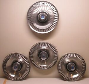 1964 Ford Galaxie Set Of Hubcaps Custom Vintage Classic Streetrod Lot 165