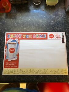 1950s coca cola football paper placemat
