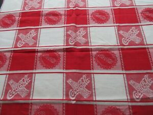 WOVEN COCA COLA FABRIC  WOVEN NOT PRINTED CAN SEE PATTERN ON BOTH SIDES 25