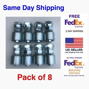 10643 12 12 Parker Aftermarket Hydraulic Hose Fittings 3 4 Female Jic 8 Pack
