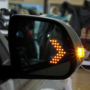 2pcs Auto Car Side Rear View Mirror 14smd Led Lamp Turn Signal Light Accessories