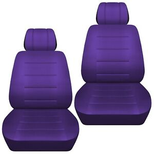 Front Set Car Seat Covers Fits 1997 2020 Toyota Camry Solid Purple