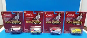 COCA-COLA / JOHNNY LIGHTNING DIE-CAST DELIVERY VEHICLES lot of 4 from 2004