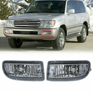 Pair Fog Light Bumper Lamp Housing For Toyota Land Cruiser 1998 2007 J100 J105