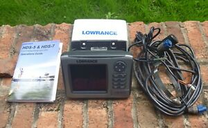 Lowrance HDS5 Fish Finding Sonar & GPS w/ Transducer HDS-5 Fishfinder