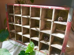 Vintage COCA-COLA Wooden Crate Carrier Box Case Wood COKE Case Red 24 Bottle Pop