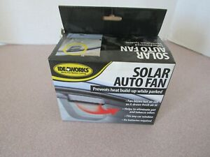 Ideaworks Car Fan Solar Powered Window Windshield Auto Air Vent Cooling System