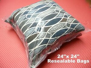 5 Very Large 24x24 Reclosable Plastic Seal top Clear Merchandise Storage Bags