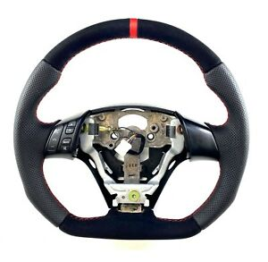 Steering Wheel Mazda 3 Mk1 Flat Bottom Full Reshaped Mazdaspeed 3 Alcantara