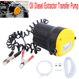 Electric Oil Pump Suction Transfer Change Pump 12v Motor Oil Diesel Extractor