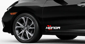 x2 honda Decal Emblem Hash Marks Sports Mind Sticker Racing Stripe Performance