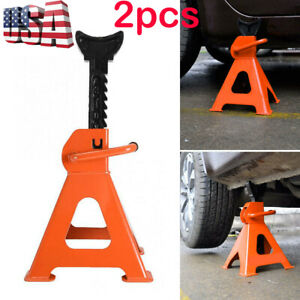 3 Ton High Lift Jack Stands 2 Pieces Car Auto Truck Garage Tools Set Us Shipping
